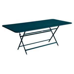 Fermob Table pliante Caractère / 90 x 190 cm - 8 à 10 personnes bleu acapulco en métal