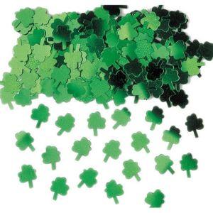 Confettis de table trèfles métallisés Saint Patrick