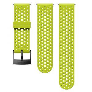 Suunto Bracelet en silicone 24 mm Athletic 1 Lime/Noir Taille S+M