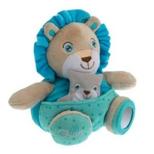 Chicco Peluche Soft Cuddles : lion bleu
