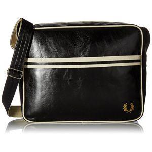 Fred Perry Classic Shoulder Bag black ecru