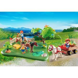 Playmobil 5457 Country - Cavaliers avec poneys et carriole
