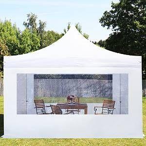 Intent24 Tente pliante 4x4 m avec fenêtres panoramiques blanc PROFESSIONAL tente pliable ALU pavillon barnum.FR