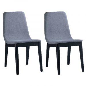 "Delorm Design Lot de 2 Chaises Design ""Felicio"" Gris Clair"