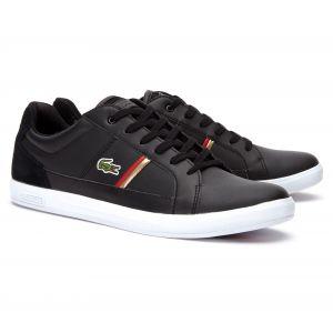 Lacoste Europa 319 1 SMA, Baskets Hommes, Noir (Black/Red 1b5), 45 EU