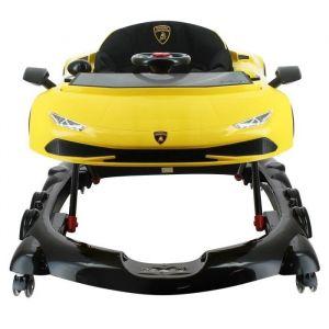 Quax LAMBORGHINI trotteur jaune et noir - de 6 mois a 12 mois - design sport - LAMBA