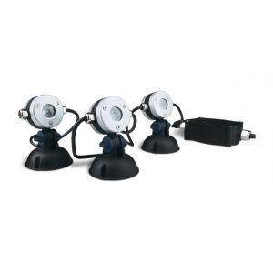 Oase 50513 - Eclairage d'étang à LED 3 spots LunAqua Mini