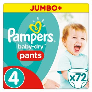 Pampers Baby-Dry Pants taille 4 (8-15 kg) - Jumbo Plus Pack 72 couches