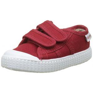 Victoria Lona Dos Velcros, Baskets Baskets Basses Mixte Enfant, Rouge (Carmin), 30 EU