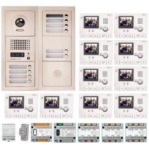 Aiphone GTV10E - Pack vidéo 10 BP avec 10 moniteurs GT1CL préprogrammés (200319)