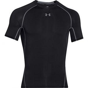 Under Armour Under Armour - Heat Gear T-Shirt - manches courtes - Homme - Noir (Noir/Acier) - Taille: XL