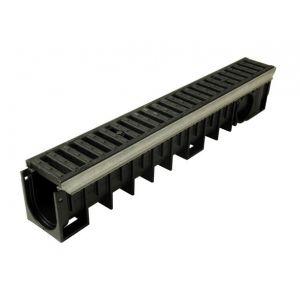 Nicoll Caniveau 1m grille fonte E600 profondeur 2 largeur 100