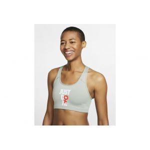 Nike Rebel Swoosh Just Do It vêtement running femme Kaki - Taille S