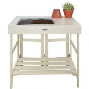 Farm Folklore Table de rempotage en pin et zinc