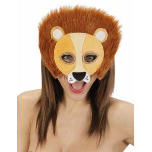 Demi-masque peluche lion adulte