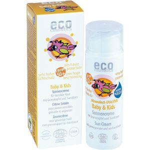 Eco Cosmetics Crème solaire Baby & Kids Sun LSF/SPF50+
