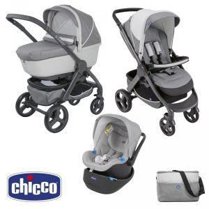 Chicco Trio StyleGo Up - Combiné Trio avec poussette, nacelle et siège auto Oasys Up