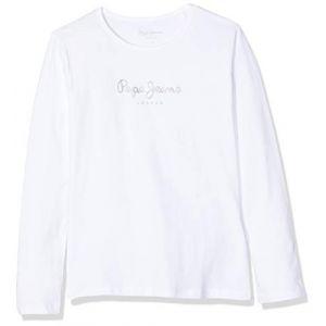 Pepe Jeans T-shirts Hana Glitter L/s - White - 10 Années