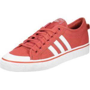 Adidas Nizza, Chaussures de Basketball Homme, Rouge (Trascaftwwhtftwwht), 41 1/3 EU