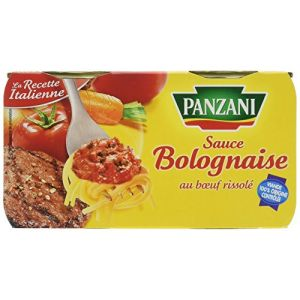 Panzani Sauce tomate cuisinée à la viande - Le lot de 2 sauces de 190g