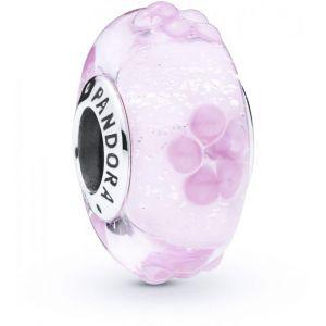 Pandora Charm Murano 797901 - Charm Murano Floral Rose en Argent