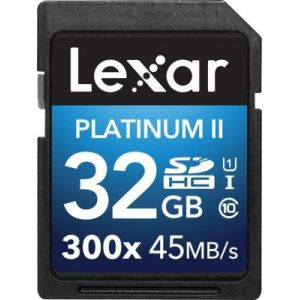 Lexar LSD32GBBEU300 - Carte mémoire Premium SDHC 32 Go 300X Class 10