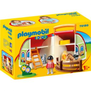 Playmobil 70180 - Centre équestre transportable 1.2.3