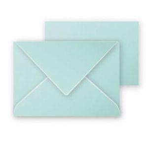Clairefontaine 31633C - Coffret de 5 enveloppes 75x100 + 5 cartes 70x95, coloris vert jade