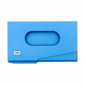 Ogon OT-Blue Porte-Cartes de Visite One Touch Aluminium anodisé Bleu
