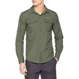 Columbia Silver Ridge II T-shirt à manches longues Homme, cypress M Chemises manches longues