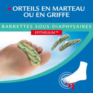 Epitact Barrettes sous-diaphysaires pour orteils en marteau ou en griffe modèle Femme 1