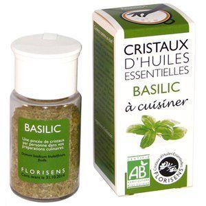 Aromandise Cristaux d'huiles essentielles Bio Basilic 20g