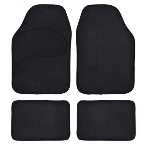 4 tapis voiture universels moquette noirs