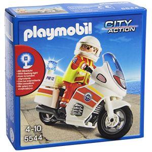 Playmobil 5544 City Action - Sauveteur avec moto
