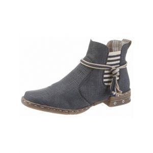 Rieker Y1893, Desert Boots Femme, Bleu (Atlantis/Elefant), 40 EU