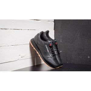 Reebok Classic Leather, Sneakers Basses Homme - Noir (Black/Gum) - 43 EU (Taille Fabricant : 9 UK)