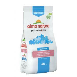 Image de Almo Nature Chat Sterilised Saumon et riz 400 grs