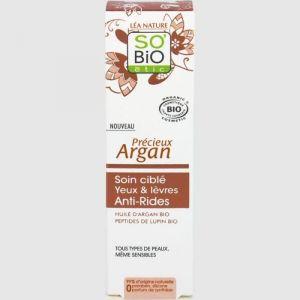 So'Bio Étic Precieux Argan - Soin ciblé yeux & lèvres anti-rides