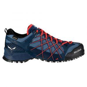Salewa Ms Wildfire GTX, Chaussures de Randonnée Basses Homme, Bleu (Dark Denim/Papavero 8673), 42 EU