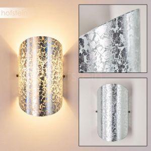 Hofstein Applique murale Teramo en verre argenté - Spot Up & Down avec effet lumineux pour salon - chambre à coucher - couloir - douille E14 40 Watt
