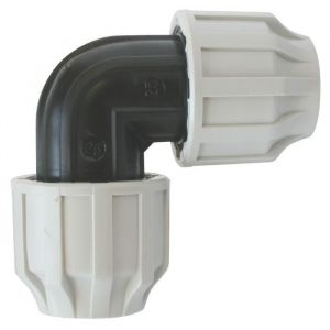 Somatherm Coude polypropylène 90° ACS pour Tube PE ou PEHD Ã%u02DC25