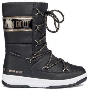 Moon boot Bottes neige enfant JR GIRL QUILTED - Couleur 30,31,32,33,34 - Taille Noir
