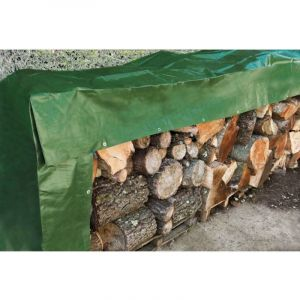 Werkapro Bâche à bois 240 g/m2 verte 2 x 8 m
