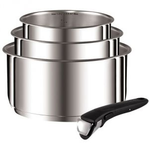 Tefal L9419502 - 3 casseroles Ingénio Préférence en inox avec poignée (16, 18 et 20 cm)