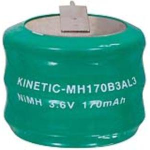 Kinetic NIMH-170/3 - Pack accus NiMH 3.6 V 170 mAh
