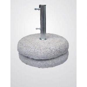 Pegane Pied de parasol en granite (grès béton) avec tube en acier 70 kg - Dim : 54 cm