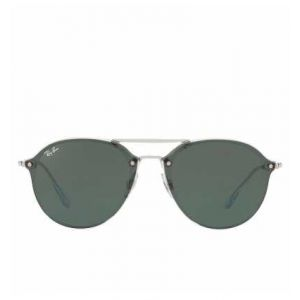 Ray-Ban Blaze double bridge Homme Sunglasses Verres  Vert, Monture  Argent - f1ba798190