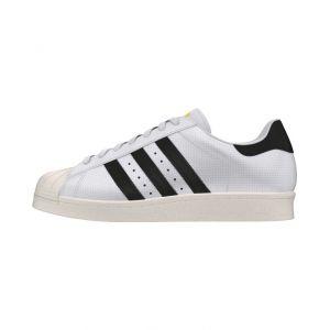 Adidas Superstar 80s, Chaussures de sport homme - différents coloris - Blanc(Running) / Noir,39 1/3 EU