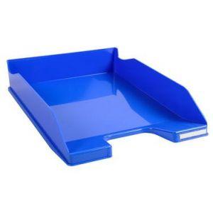 Exacompta 113279D - Corbeille à courrier COMBO MIDI, bleu glacé brillant