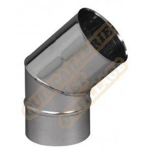 Ten Coude équerre à 90 Inox 316 -4-10- diamètre 80 + joint à lèvres pour chaudières condensation 282080